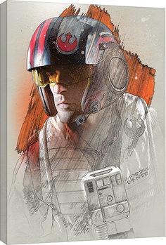 Tela Star Wars The Last Jedi - Poe Brushstroke