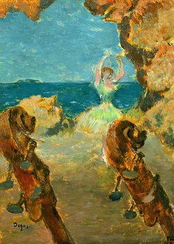 Tela  The Ballet Dancer, 1891 (oil on mahogany panel)