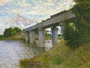 Tela The Railway Bridge at Argenteuil, 1874