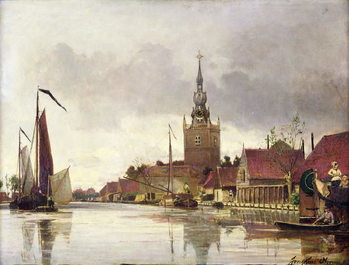 Tela  View of Overschie near Rotterdam, 1856