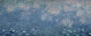 Tela  Waterlilies: Two Weeping Willows, centre right section, c.1915-26 (oil on canvas)