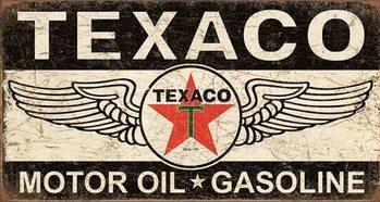 Texaco Winged Logo Plaque métal décorée