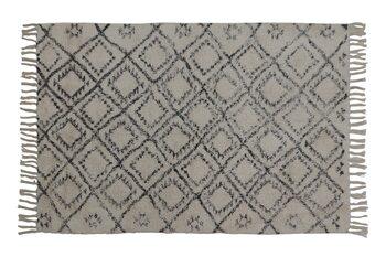 Tapete Boyaka - Black-White Rhombus Print Têxtil