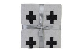 Bed cover Joven - Black-White Textile