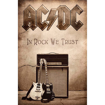 Textile poster  AC/DC - In Rock We Trust