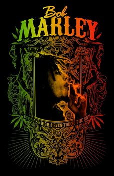 Textile poster Bob Marley - Touch The Sky