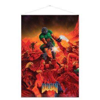 Textile poster  Doom - Retro