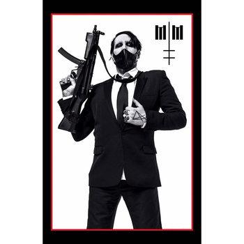 Textile poster Marilyn Manson - Machine Gun