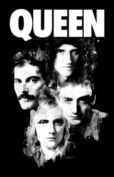 Textile poster Queen - Faces