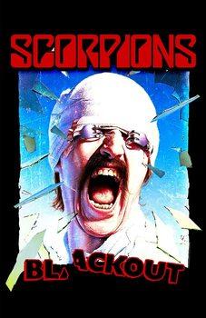 Textile poster  Scorpions - Blackout