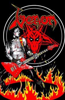 Textile poster  Venom - Cronos In Flames