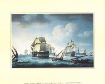 The Battle Of Trafalgar  Reproduction d'art