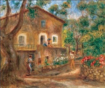 The Collette House in Cagnes, 1912 Reproduction d'art
