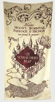 Towel Harry Potter - Marauder's Map