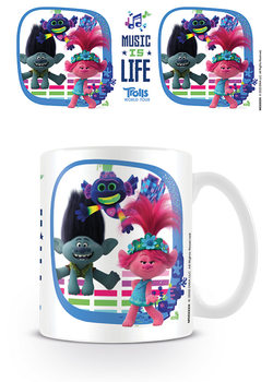 Caneca Trolls World Tour - Music Is Life
