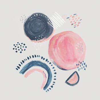 Valokuvatapetti Abstract mark making circles