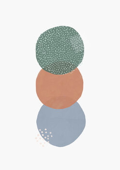 Valokuvatapetti Abstract soft circles part 2