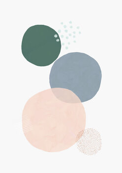 Valokuvatapetti Abstract soft circles part 3