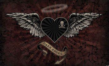Valokuvatapetti Alchemy Heart Dark Angel Tattoo