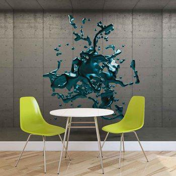 Valokuvatapetti Diseño abstracto de la pintura concreta