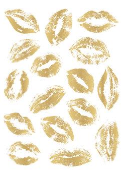 Valokuvatapetti Golden Kisses