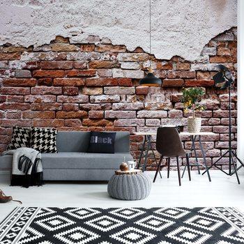 Valokuvatapetti Grunge Brick Wall
