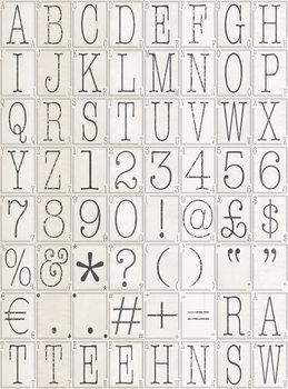 Valokuvatapetti Letters