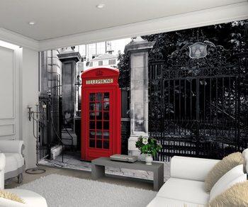 Valokuvatapetti Lontoo - brittiläinen punainen puhelinkoppi