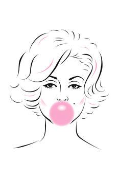 Valokuvatapetti Marilyn