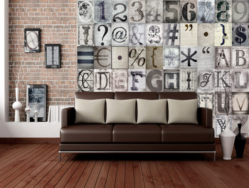 Valokuvatapetti Typography