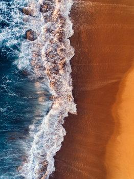 Valokuvatapetti Water arrive to sand