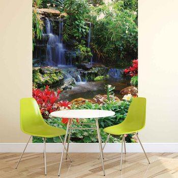 Valokuvatapetti Waterfall Forest Nature