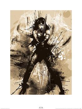 Batman V Superman - Wonder Woman Art Art Print