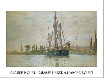 Chasse-Marée À L'Ancre (Rouen) Art Print