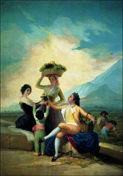 F.De.Goya - La Vendage En Automne Art Print