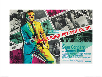 James Bond - Dr. No - Montage Art Print