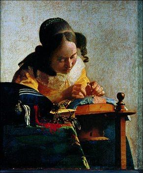 Jan Vermeer - Merlettaia Art Print