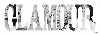 Marilyn Monroe - Glamour - Text Art Print