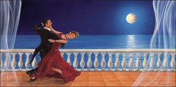 Romantic dancer Art Print