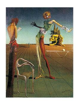 Salvador Dalí - femme a tete de roses Art Print