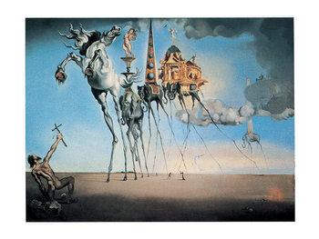 Salvador Dalí - la tentation Art Print
