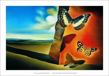 Salvador Dali - Paysage Aux Papillons Art Print