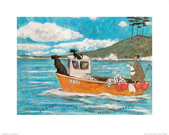 Sam Toft - Dogger, Fisher, Light Vessel Automatic Art Print