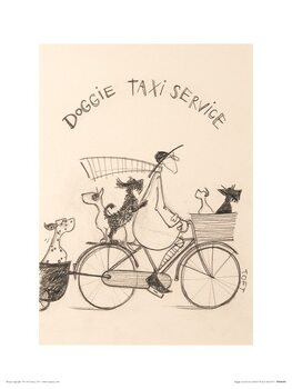 Sam Toft - Doggie Taxi Service Art Print