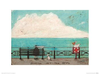 Sam Toft - Sharing Out the Chips Art Print