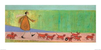 Sam Toft - The March of the Sausages Art Print