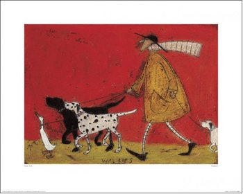 Sam Toft - Walkies Art Print