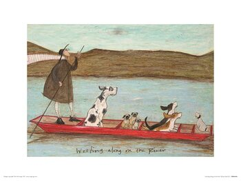 Sam Toft - Woofing Along on the River Art Print