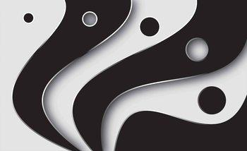Abstrait Motif moderne Noir Blanc Poster Mural