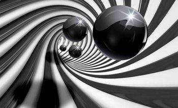 Abstrait Swirl Modern Spheres Poster Mural